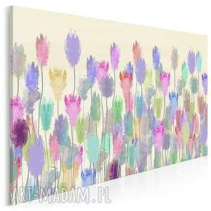 obraz na płótnie - kwiaty łąka kolory 120x80 cm 71301, kwiaty