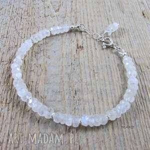 handmade bransoletki subtelna z kamienia księżycowego - bransoletka