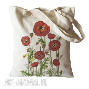Torba na zakupy. Maki, zakupy, torba, torebka, ekologiczna, maki, kwiaty