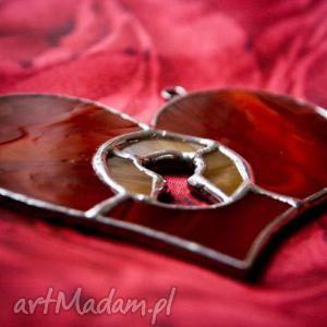 Klucz do serca daj witraże pi art serce, klucz, witraż, tiffany