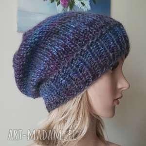 jesień w prowansji czapka, rękodzieło, zima, bezszwowa, dwustronna, czapka
