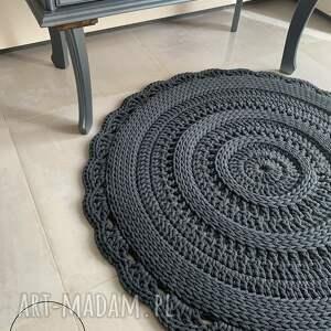 szydełkowy dywan ze sznurka bawełnianego, dywan, skandynawski, mandala