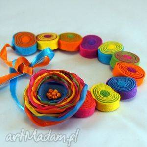 multiwitamina - filc, koła, lekki, kolorowy