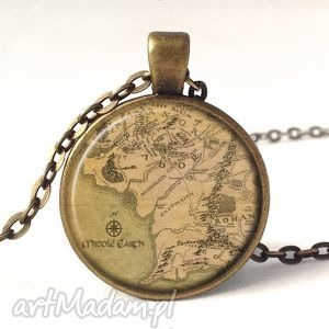 handmade naszyjniki middle earth - medalion z łańcuszkiem