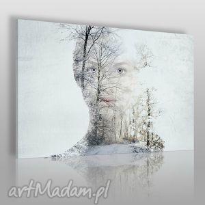 obraz na płótnie - krÓlowa Śniegu - 120x80 cm 20401 - zima, śnieg