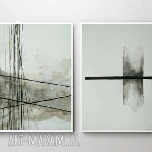 paulina lebida dwie abstrakcje-każda formatu 18/24 cm, abstrakcje, tusz
