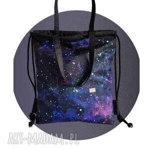 torboplecak 2w1 - galaktyczna flara, torbo plecak, torba galaktyka wzór