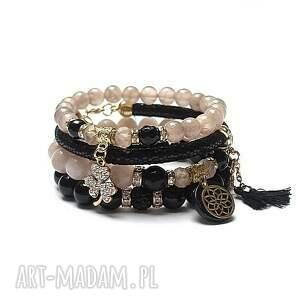 ręcznie robione black and antique pink /21.03.21/ - set