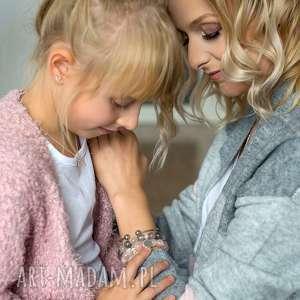 BRANSOLETKA z perełek Swarovskiego - for KIDS, sowa, srebro, perły, swarovskiego, 925
