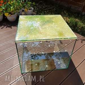 Stolik kawowy stoły pracownia szkla stół, tabl, szkło, glass