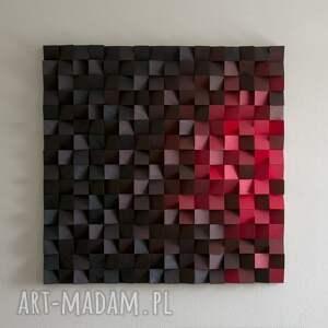 obraz drewniany 3d mozaika drewniana piekło, mozaika, drewniany, obraz
