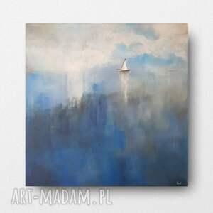 morze-obraz akrylowy formatu 60/60 cm, obraz, kwadrat, akryl, morze, płótno