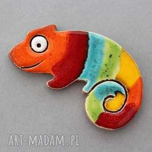 Pomysły na prezenty święta. Kameleon-magnes ceramiczny magnesy