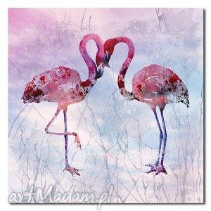 obraz xxl FLAMING 1 - 80x80cm na płótnie flamingi, obraz, ptaki