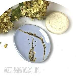 """Ceramiczna mydelniczka """"błękit"""" ceramika ceramystiq studio"""