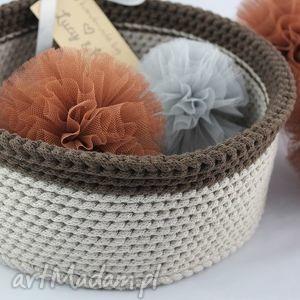 kosz doubel colours, kosz, koszyczek, pudełko, sznurek, bawełna