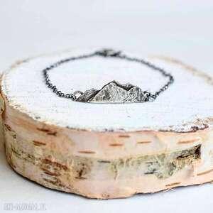 Bransoletka z górami, minimalizm, miłośnik-gór, ręczne-wykonanie, góry, srebro,