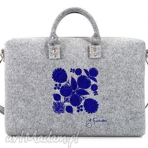 ręcznie zrobione torba filcowa kwiat łowicki 410