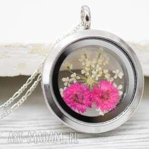 naszyjniki 925 suszone kwiaty srebrny naszyjnik, kwiaty, kwiat, srebro