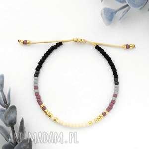 bransoletka minimal - autumn violet, delikatna, minimalistyczna, modna