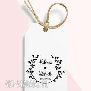 stemple stempel ślubny personalizowany wianek, ślub, pieczątka, stempel