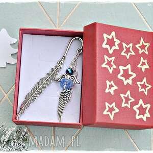 świąteczny aniołek - zakładka do książki na prezent, zakładka, anioł