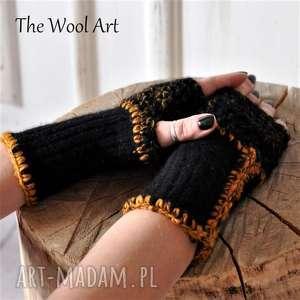 Rękawiczki mitenki the wool art rękawiczki, wełniane, mitenki