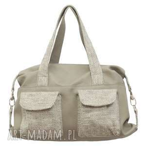 09-0001 szara torba sportowa / torebka fitness tit, torebki damskie, markowe