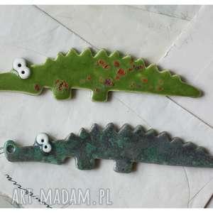 ręcznie zrobione magnesy krokodyle - zestaw magnesów iii