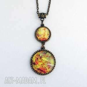 medalion - jesień, liście - drzewo (naszyjnik, jesień liście, prezent)