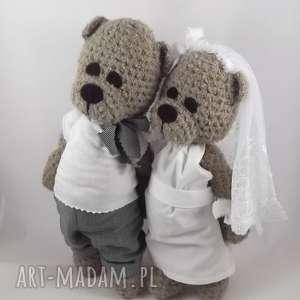 hand-made ślub misiowa para młoda