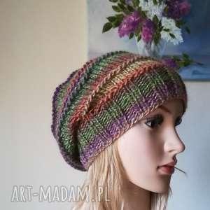 Prezent W zimowym słońcu, rękodzieło, bezszwowa, zima, czapka, styl, prezent