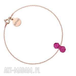 sotho bransoletka z różowego złota kryształowym ciężarkiem swarovski crystal