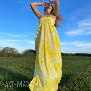 sukienki cytrynowa sukienka