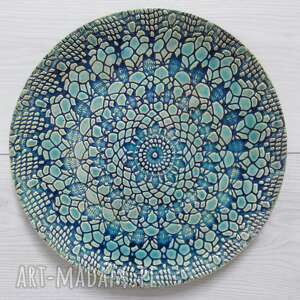 Koronkowa patera ceramiczna ceramika ana talerz ceramiczny