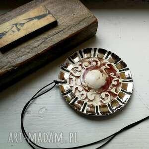 Wisior ceramiczny szkliwiony naszyjniki ruda klara ceramika