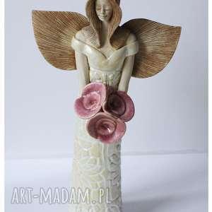 Zamówienie dla Pani Magdy, ceramika, anioł, ślub