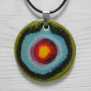 tęczowy naszyjnik ceramiczny, naszyjnik, kolorowy power color