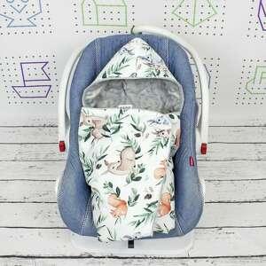hand-made dla dziecka kocyk do nosidła samochodowego woodland
