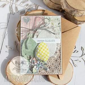 handmade pomysł jaki prezent pod choinkę urocza wielkanocna kartka, w kopercie. Święta