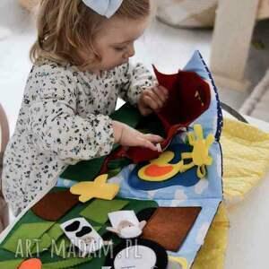 handmade zabawki książeczka sensoryczna dla dziecka od 1 roku życia