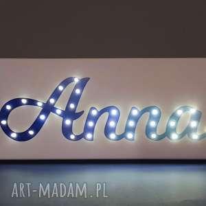 napis led obraz z imieniem ombre personalizowany dekoracja lampa prezent na