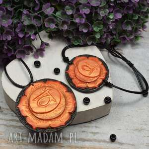 kameleon komplet biżuterii svadhisthana - wisiorek i bransoletka czakry