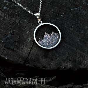 Naszyjnik z górami naszyjniki dziki krolik góry, srebro