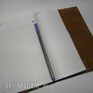 okładka na kalendarz - zamówienie, skóra, kalendarz, notatnik, a5, etui