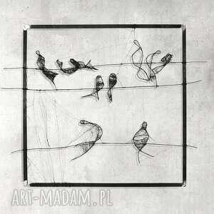 Instalacja przestrzenna - 15 ptaki maja gajewska dekoracja