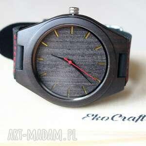 zegarki drewniany zegarek ebony black, drewniany, ekologiczny