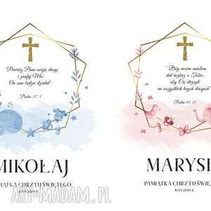 2 obrazy led pamiątka chrztu świętego - zamówienie specjalne
