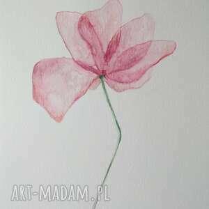 kwiatek-akwarela formatu a4, kwiatek, akwarela