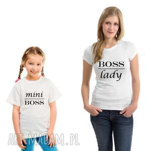 Koszulka dla rodziny- dziecięca Mini Boss, dlaniej, dlacórki, dziecko